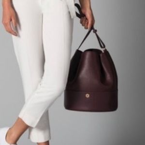 Dagne Dover Ava Bucket Handbag in Oxblood